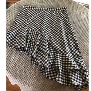 NWOT A New Day Gingham Asymmetrical Skirt Size 18